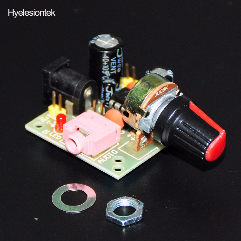 Lm386 Super Mini Audio Verstrker Elektronische Kit Platine 2 Watts Stereo Using Three Amplificador Modul Board Power 35mm 3 12 V Dc Mono In