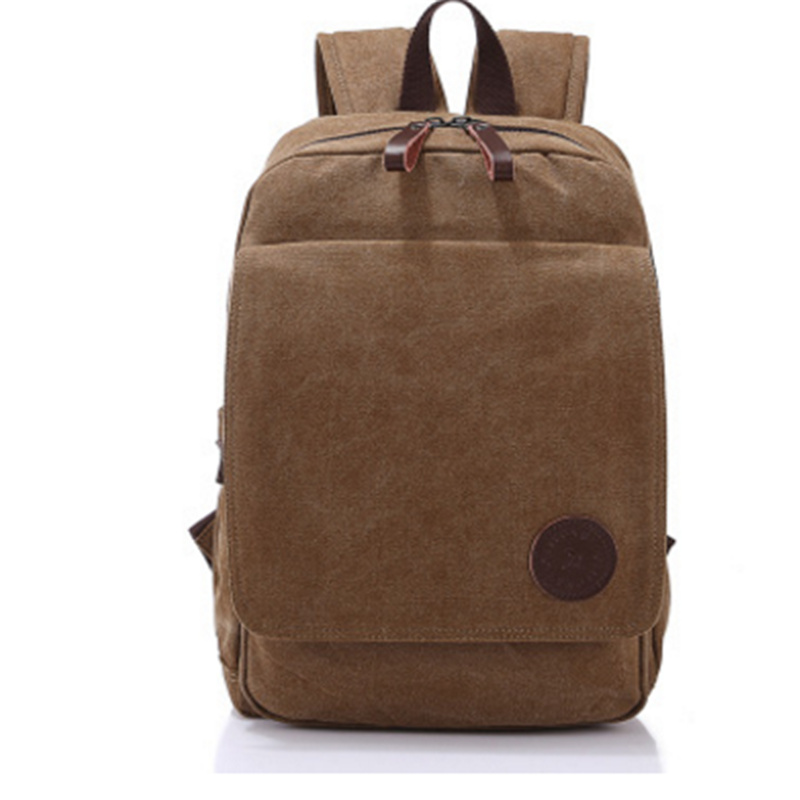 2017 New Fashion Double Shoulder Bag Men's Leisure Backpack Khaki Canvas Student Computer Bag Outside Big Capacity Travel Bags dusun new brand women fashion leisure pu backpack student double shoulder bag simple female retro solid color girl travel bags