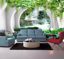 Пейзаж обои для стен 3 d гостиная обои для стен ТВ фон обои 3d на стену