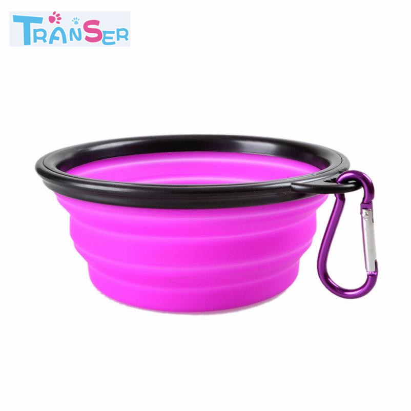Portable Dog Pet Travel Collapsible Food Water Bowls Pets: Transer Dog Bowl Portable Foldable Collapsible Silicone