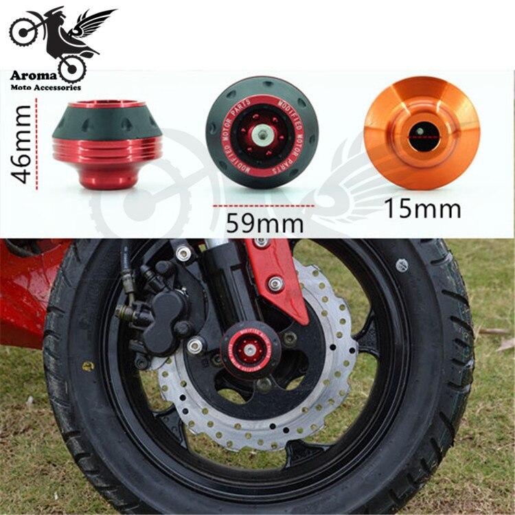 Moto Caída CNC piezas de aluminio unviersal racing Frente Tenedor - Accesorios y repuestos para motocicletas - foto 3