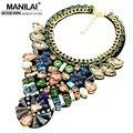 MANILAI Collares de Moda Para Las Mujeres 2016 de La Joyería Del Encanto Bib Torques Declaración de Cristal Colgantes Gargantillas Collares Para Las Mujeres Vestido