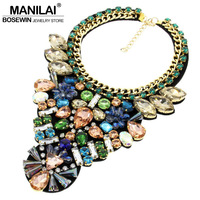 Fashion Necklaces For Women 2014 Charm Jewelry Bib Torques Crystal Statement Pendant Chokers Necklaces For Female