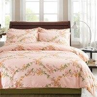 6 ST 100% Egyptisch Katoen roze meisjes beddengoed 500TC, 1 st Dekbed Cover1pc Bed Sheet2pc Kussensloop 2 st Kussen prinses Beddengoed Sets