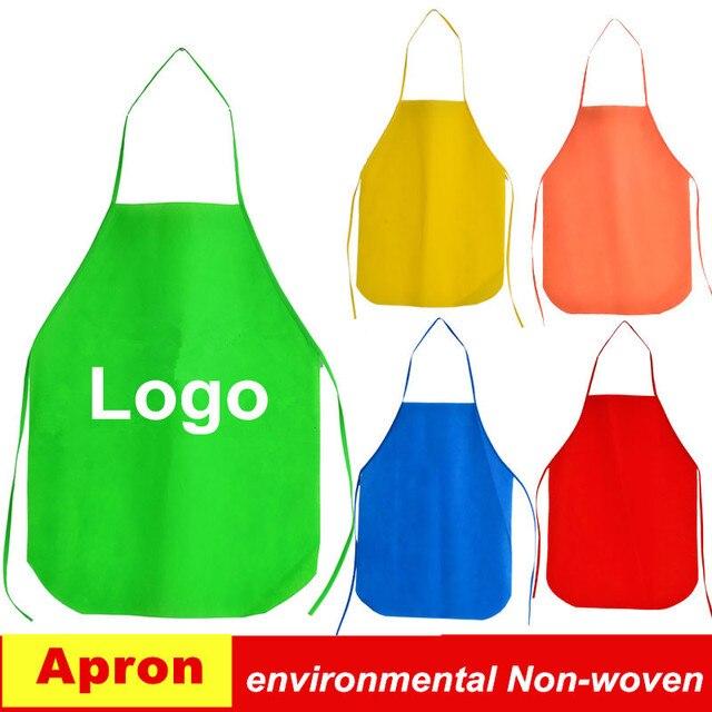 PP Non tessuto Grembiuli grembiuli da cucina per bambini Usa E Getta Logo  Stampato Tessuti Grembiuli c3c93ffad709