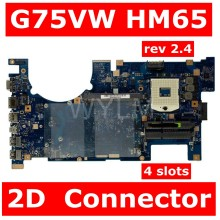 G75VW MAIN_BD._0M/AS/2D/GA 90R-N2VMB1600Y 2D Connector Mainboard For ASUS ROG G75V G75VX G75VW Laptop Motherboard 100% Tested(China)