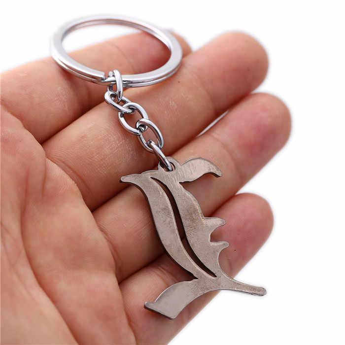 Joyería de Anime Death Note llavero de metal letra L Logotipo de aleación de plata antigua llavero accesorios de joyería