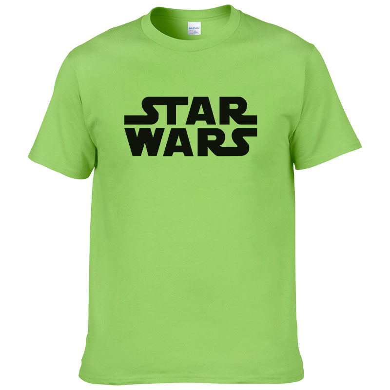 STAR WARS Men T Shirt Casual Letter Printed Top Quality Short Sleeve Cotton Man T-shirts Camisetas Hombre Tees Shirts #027