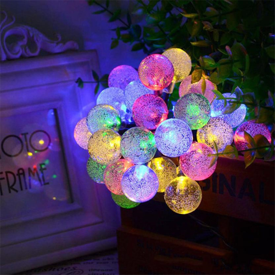 New Multicolor Garden Party Decorative Lights 1PC Solar Powered 30 LED String Light Garden Path Yard Decor Outdoor festival Lamp