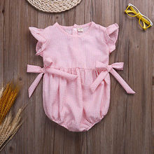 Hot Sale Cute PINK Baby Girls Clothing Rompers Infant Baby Girls Clothes Jumpsuits