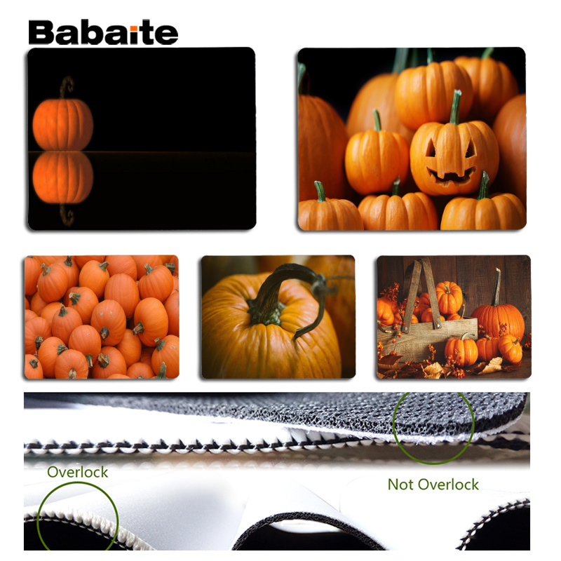 Babaite Top Quality Pumpkin Laptop Gaming Mice Mousepad Size for 18x22cm 25x29cm Rubber Mousemats