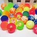 Бесплатная доставка 27 мм резины, Прыгающие шарики, упругий шарик, мультфильм прыгающий мяч для детей маленький твердый Резиновый мячик 10 шт./лот