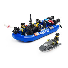 Block Police Series 146pcs Defend the Coast Building Blocks Sets Assembled Bricks DIY Educational Toys With LegoINGlys Technic