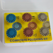 3 boxes Dental Composite Spiral Polisher Resin Ceramic Polishing Disc Kit Spiral Flex Brush Burs Wheel Dentistry Instrument