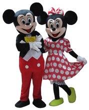 2 шт. высокое качество шт. Маус талисман Минни Маус талисман костюм Бесплатная доставка