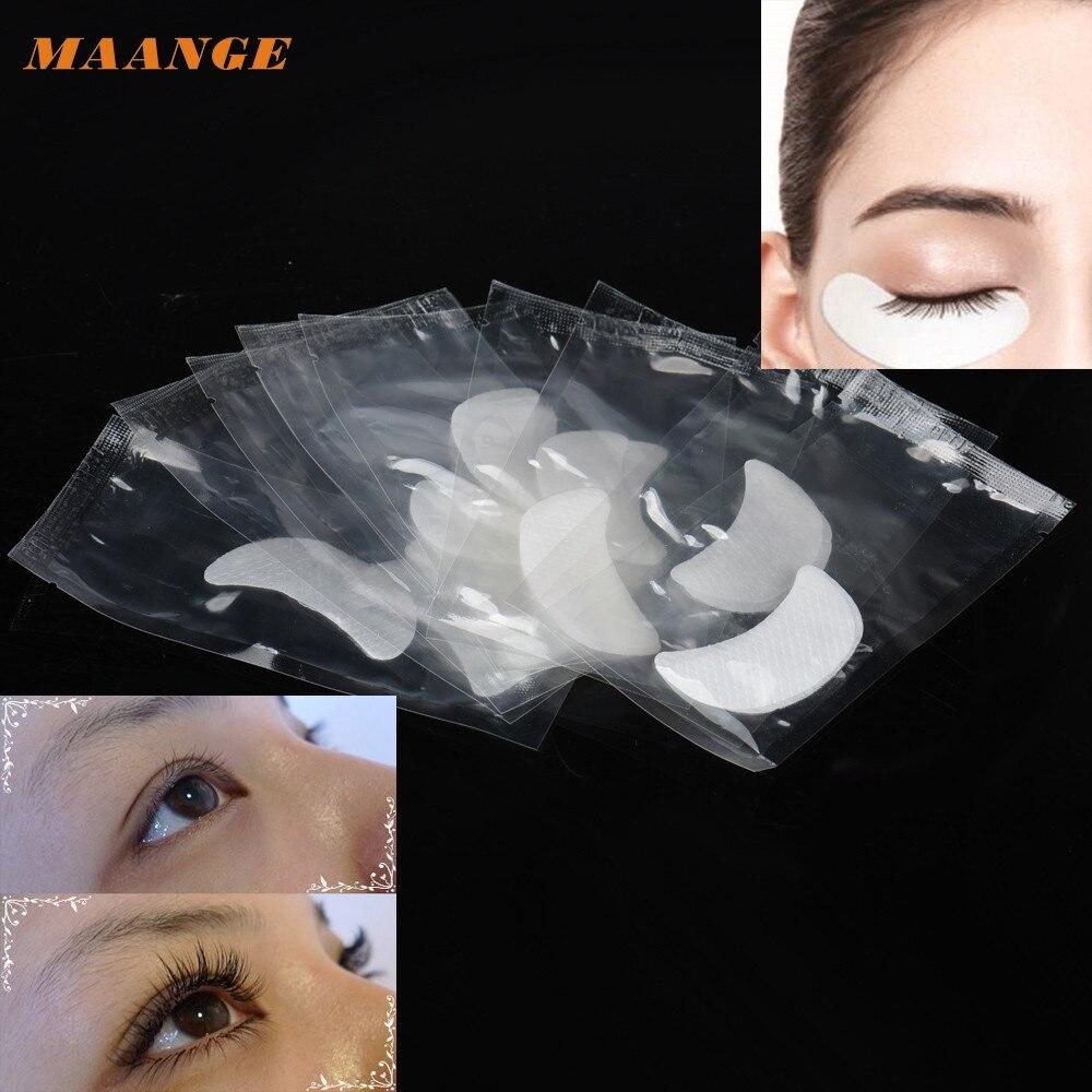 2017 Hot 10 Pairs Eye pads Eyelash Pad Gel Patch Lint Free Lashes Extension Mask Eye pads 23kk