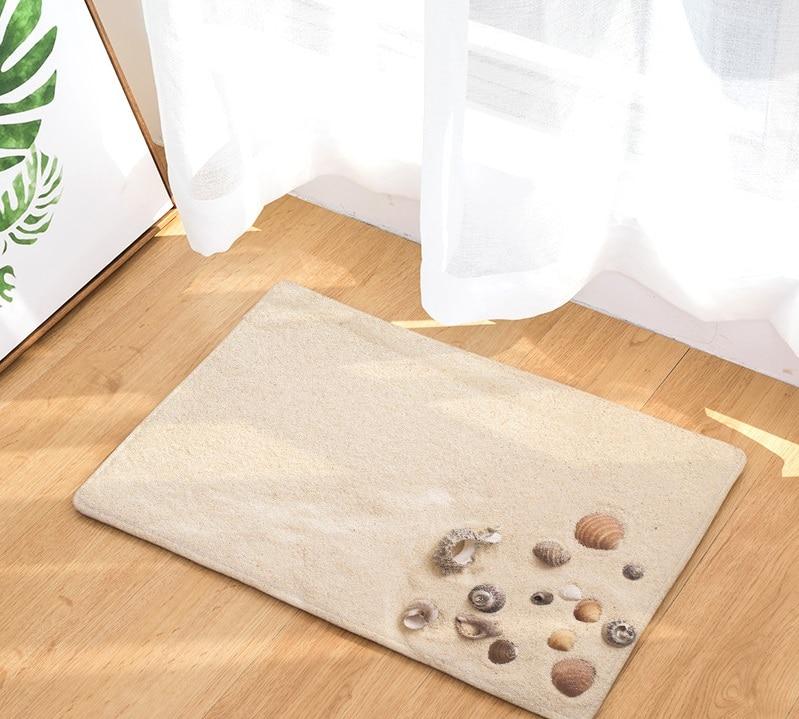 Image 5 - CAMMITEVER Beach Sandy Shells Sea Star Summer Holiday Style Rug Anti Slip Doormat Home Decor Door Mat Floor Living Room Carpet-in Rug from Home & Garden
