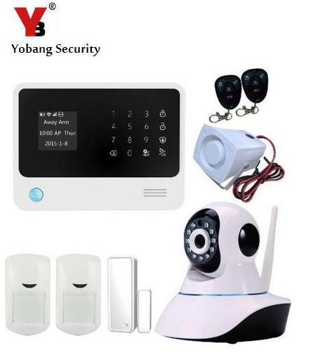 YoBang Sécurité Android IOS APP Contrôle IP Caméra Détecteur PIR Motion Sensor Accueil Alarme GSM Réseau Sans Fil Tactile Clavier.