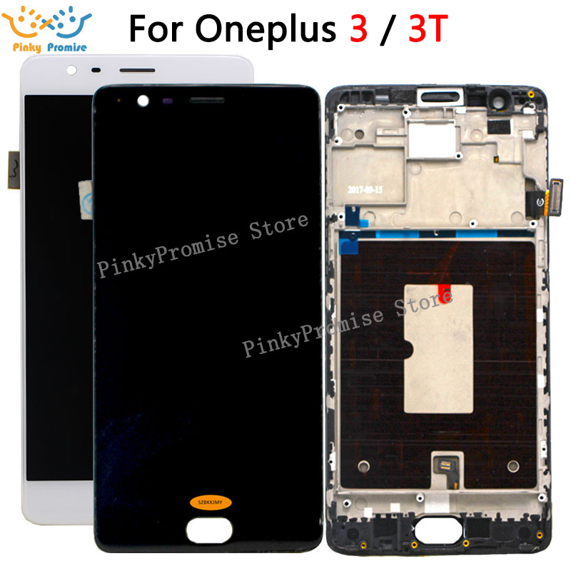 Oneplus 3 Lcd Screen Oneplus 3T Display Screen Tested Screen With Frame Replacement For Oneplus 3T A3010 A3000 A3003 5.5inch