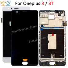 Oneplus 3 Lcd מסך Oneplus 3T תצוגת מסך נבדק מסך עם החלפת מסגרת עבור Oneplus 3T A3010 A3000 a3003 5.5 אינץ