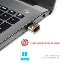 Mini usb módulo leitor de impressão digital reconhecimento dispositivo para windows 10 olá chave segurança biométrica 360 toque