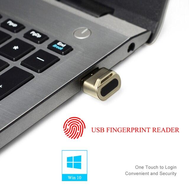 USB صغير قارئ بصمات الايدي وحدة جهاز التعرف على ويندوز 10 مرحبا مفتاح الأمن البيومترية 360 اللمس