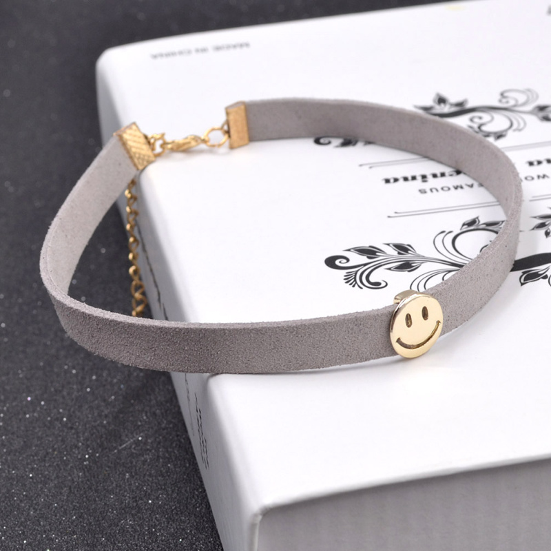 fashion lychee Jewellery Store fashion lychee Fashion Women Statement Choker Smile Face Flower Crystal Collar Pendant Jeans Necklace Chain Jewelry
