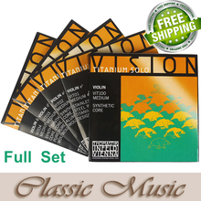 Thomastik Vision Titanium Solo Violin Strings (VIT100),Full set ,Set 4/4 Medium. Made in Austria. free shipping,