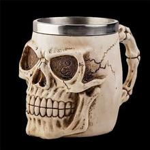 Alien Esqueleto de Resina Taza Beber Jarra de Terror Cráneo Decorativo Halloween Drinkware 1 Pieza