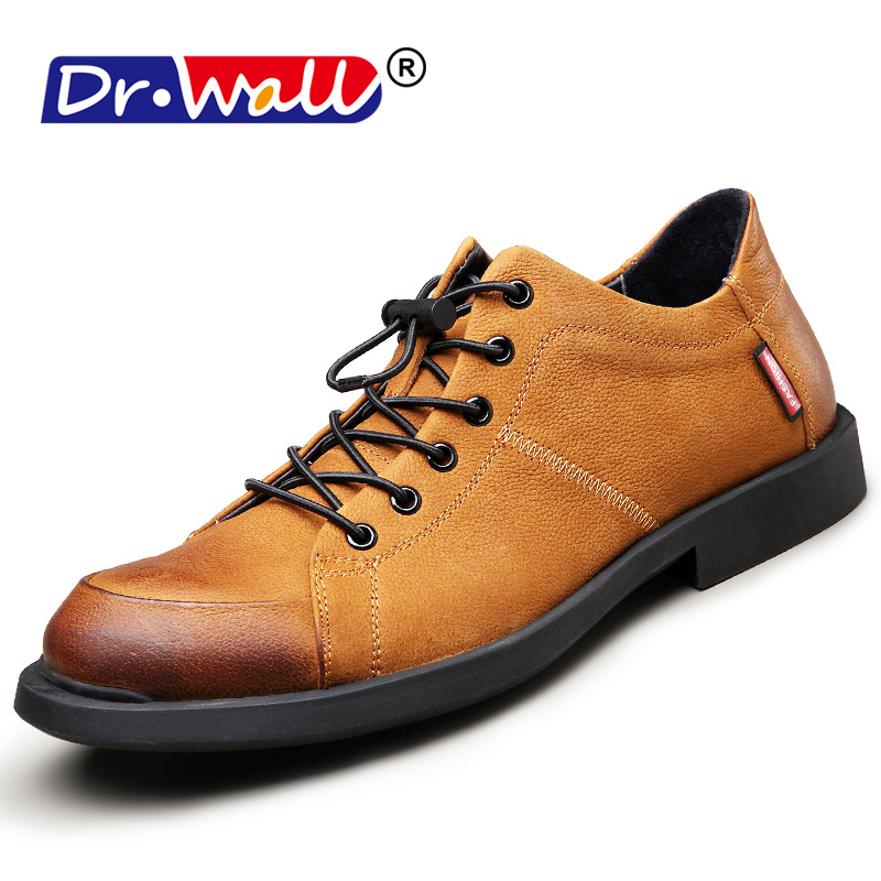 Men Genuine Leather Casual Shoes Leather Brand Men Shoes Work Safety - Men's Shoes
