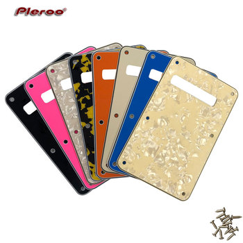 Pleroo Custom Guitar Parts - For US Strat guitar Tremolo Cover Strat Back Plate Guitar Pickguard Scratch Plate pleroo custom guitar pickgaurd for dot guitar pickguard scratch plate 4 ply white pearl