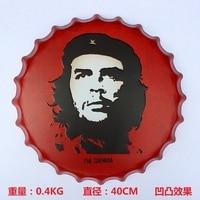 New arrival tin sign Che Guevara Vintage Metal Painting Beer cap Bar pub Wallpaper Decor Retro Mural Poster Craft 40x40 CM