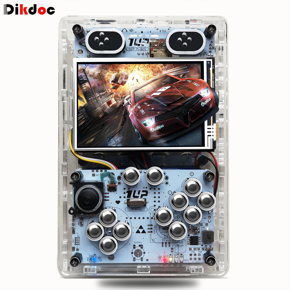 Raspberry pi 3B handheldCon HDMI output TV game console 3.5 inch screen retro game player console with 10000 different games