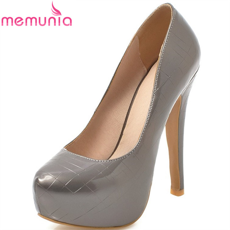 MEMUNIA female pumps women shoes super high heels square heels party wedding round toe spring autumn summer mature shoes siketu 2017 free shipping spring and autumn women shoes high heels shoes wedding shoes nightclub sex rhinestones pumps g148