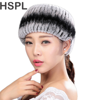 Fur Scarf 2016 New Women Ring Rex Rabbit Fur Scarf Knitted Fur Neckwarmer Can Used As