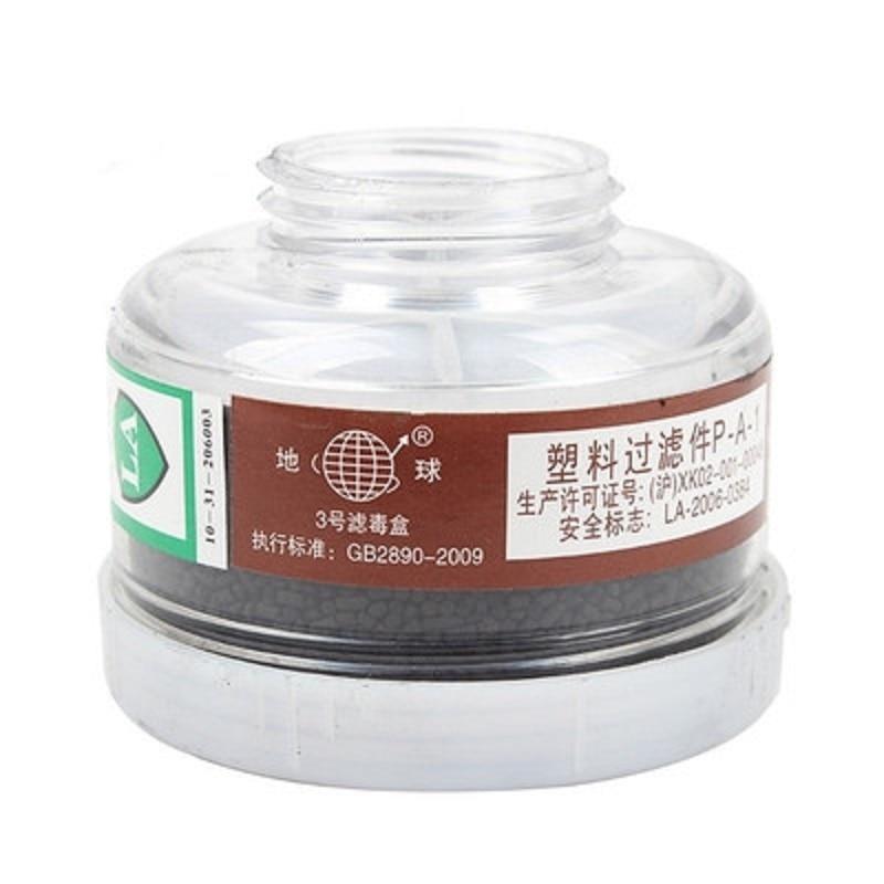 2 Piezas Anti-polvo De La Máscara De Gas Cartucho De Pintura De Respirador De Recipientes De Filtro De Carbono Activado Media Máscara Completa