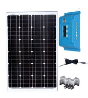 Kit Panel Solar 12v 60w Solar Charge Controller 12v/24v 10A PWM Solar Charger Battery Portable Camping Kit Car Caravan RV