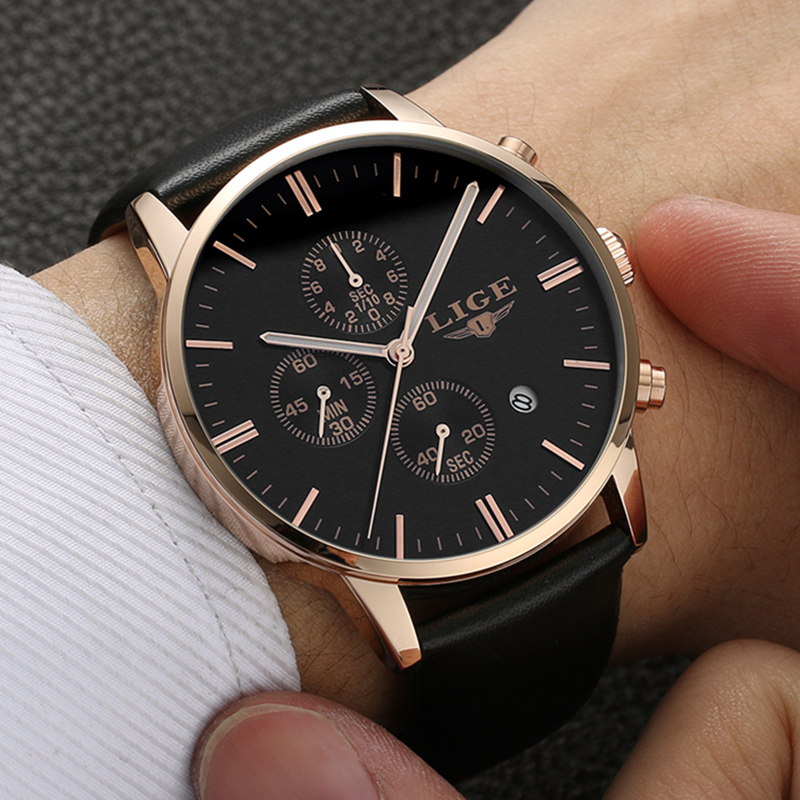 LIGE Для мужчин s часы лучший бренд класса люкс мужской военной Спорт световой часы Для мужчин Бизнес кварц часы мужской часы человек relogio