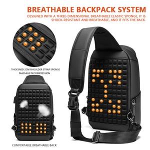 Image 5 - Многофункциональная мужская сумка через плечо с защитой от кражи, мессенджер на ремне с USB портом для мужчин, водонепроницаемый мешочек для коротких поездок