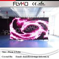 Zertifizierung flyko bühne led vorhang p60mm 2 5x4 m weiche faltbare dj bühne led video vorhang kulissen wand kulissen wand-in Bühnen-Lichteffekt aus Licht & Beleuchtung bei