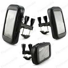 Motorcycle Bike Parts 17mm – 32mm (3/4″ – 1 1/4″) Handlebar Holder Mount Waterproof Phone GPS Bag Case For Harley