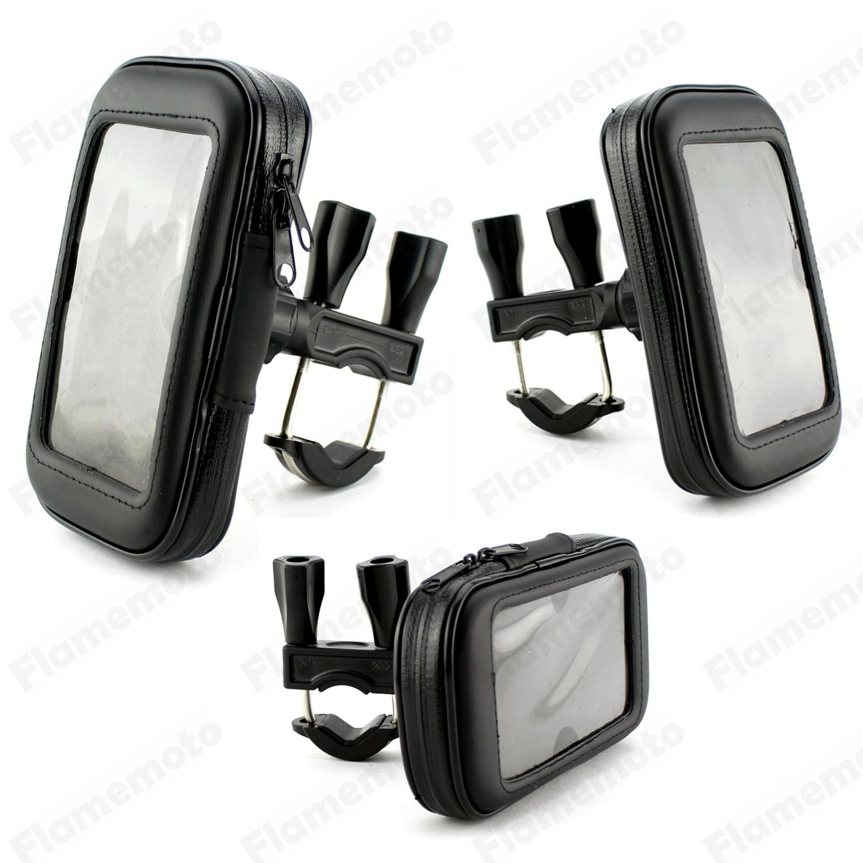 Motorcycle Bike Parts 17mm &#8211; 32mm (3/4&#8243; &#8211; 1 1/4&#8243;) Handlebar <font><b>Holder</b></font> Mount Waterproof <font><b>Phone</b></font> GPS Bag Case For <font><b>Harley</b></font>