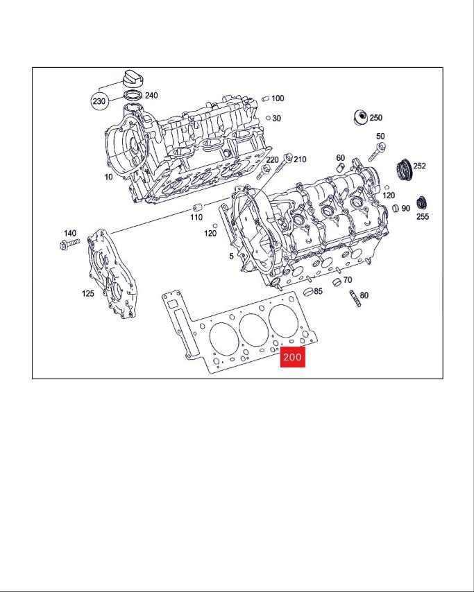 สำหรับ Mercedes M272 3.5L C230 C280 E 280 CLK350 เครื่องยนต์สั้นชุดปะเก็นปะเก็นชุด OEM: 08-37718-01 2720161520