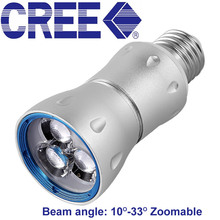 Zoom Focusing Led SpotLight 7W Cree E27 Spot Led Light 3000K 4000K 6000K Led Lamp Museum Cabinets Lighting 110V 220V