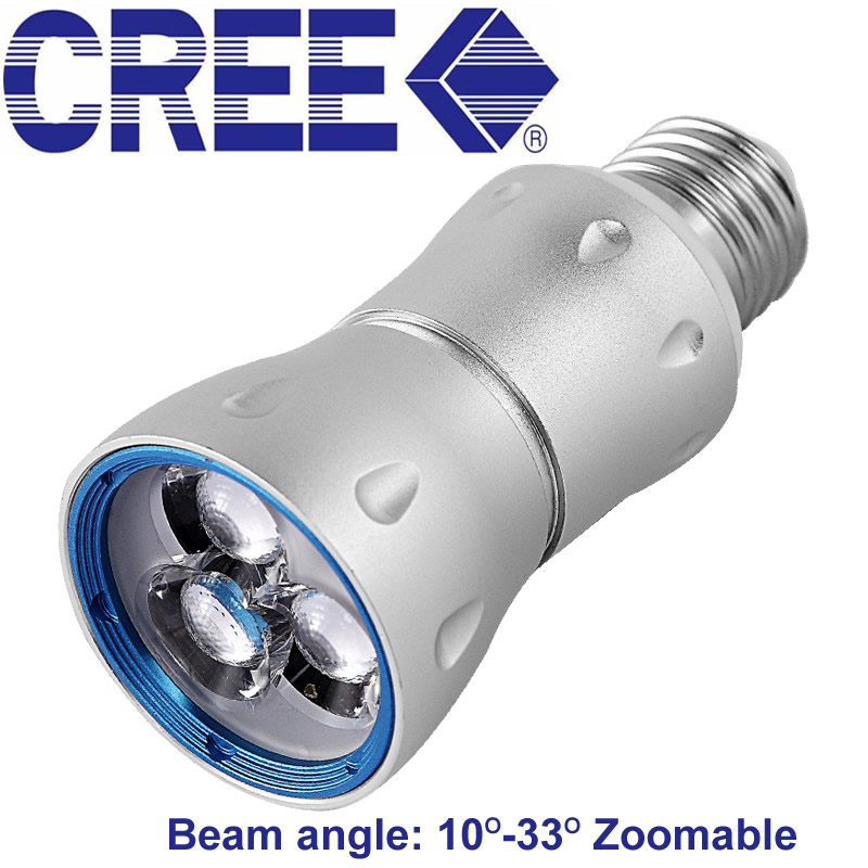 Zoom L'accent A Mené Le Projecteur 7 w Cree E27 Spot Led Lumière 3000 k 4000 k 6000 k Led Lampe Musée armoires Éclairage 110 v 220 v