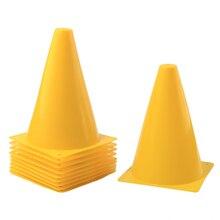 10Pcs 7 Inch Multipurpose Sport Football Training Traffic Cone Support  Children Barrel Maker Fitness Training Soccer ea1cdf093619