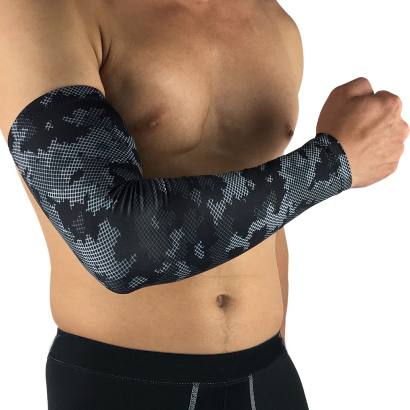 Comfortable Camo Black Sports Armband Breathable Sunscreen Sleeve Non-slip Soft Moisture Wicking Arm Sleeve Cycling Basketball bondi band solid moisture wicking headband