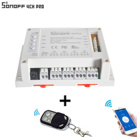 ITEAD Sonoff 4CH 4 Gang 433MHZ Mounting Wireless Control WIFI Smart Switch Home Light Alexa Remote