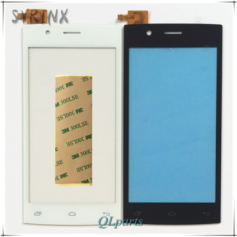 Syrinx +Tape Phone For Fly FS 451 Sensor Touchscreen For Fly FS451 Nimbus 1 Touch Screen Digitizer Front Glass Panel Tracking NO