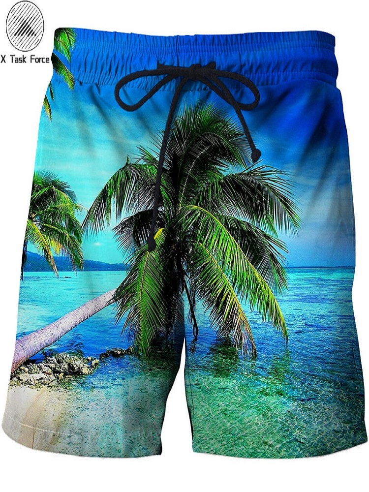 KVMV Colorful Anchor Letterers Deep Blue Sea Marine Design S Quick Dry Beach Shorts